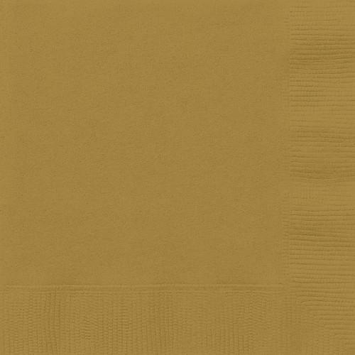 Gold Solid Luncheon Napkins, 20ct