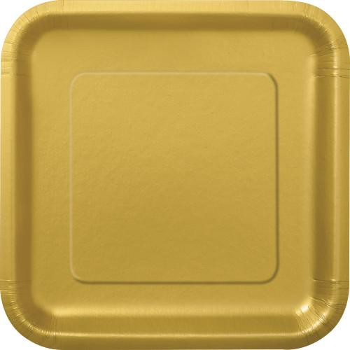 Gold Solid Square 9