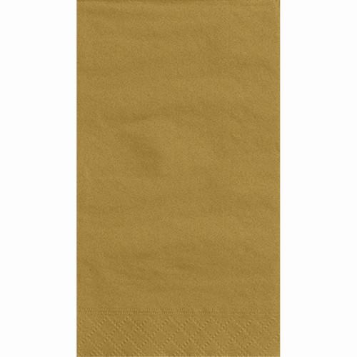 Gold Solid Guest Towels, 20ct