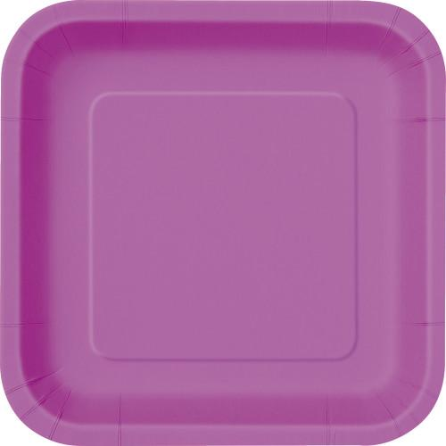Pretty Purple Solid Square 9