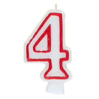 Number 4 Deluxe Birthday Candle