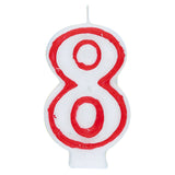 Number 8 Deluxe Birthday Candle