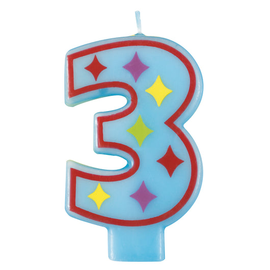Number 3 Decorative Birthday Candle