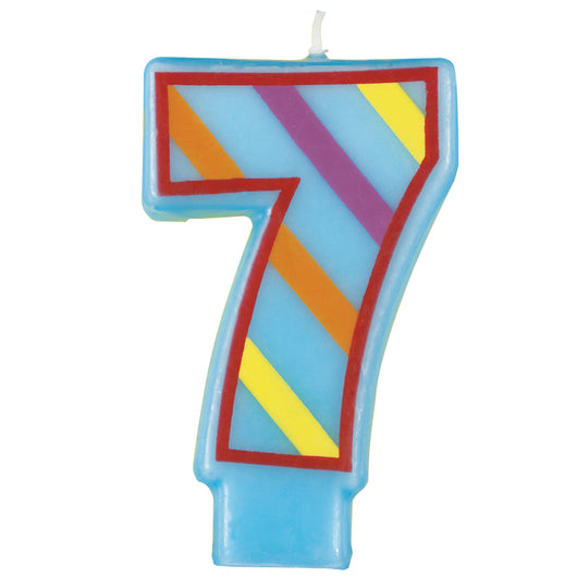 Number 7 Decorative Birthday Candle