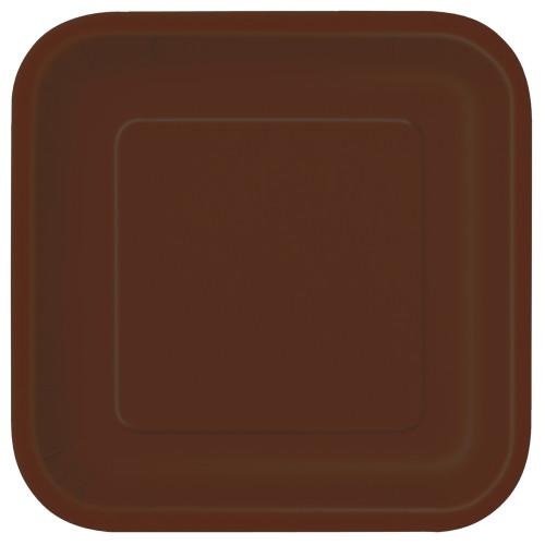 Brown Solid Square 9