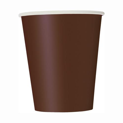 Brown Solid 9oz Paper Cups, 14ct