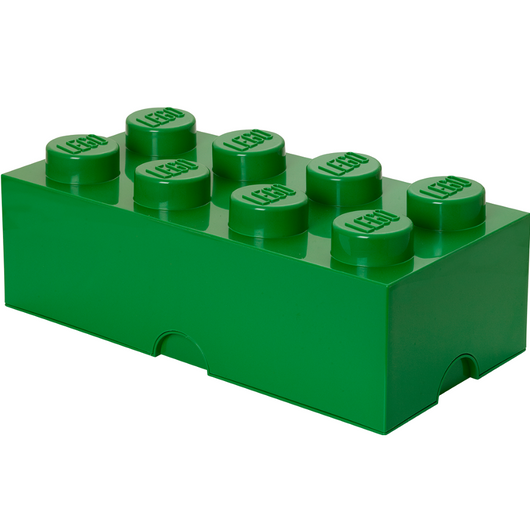 LEGO Storage Brick 8 Dark Green 40040634 (3)