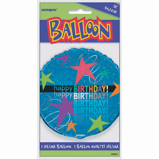 Cosmic Birthday Round Foil Balloon 18