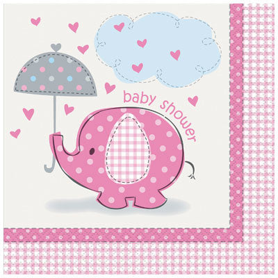 Umbrellaphants Pink Lunch Napkins, 16ct.