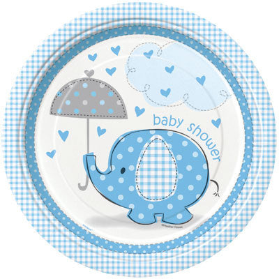 Umbrellaphants Blue Lunch Plates, 8ct.