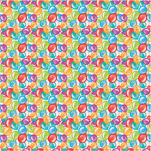 Balloon Birthday Gift Wrap, 30