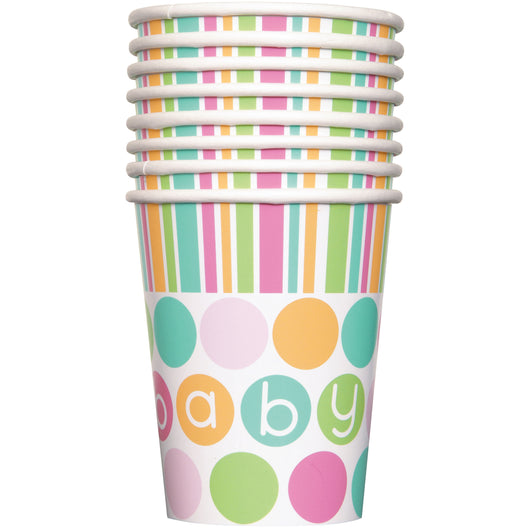 Pastel Baby Shower 9oz Paper Cups, 8ct