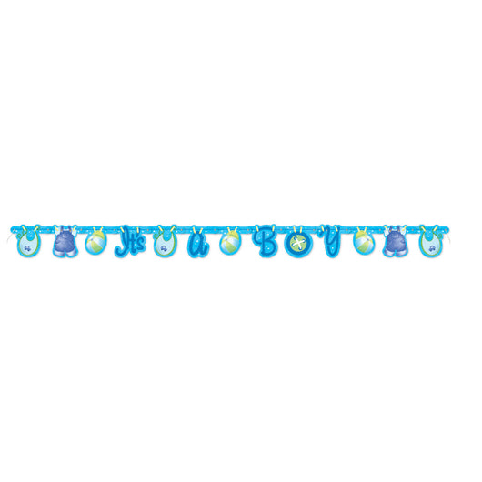 Blue Clothesline Baby Shower Large Jointed Banner