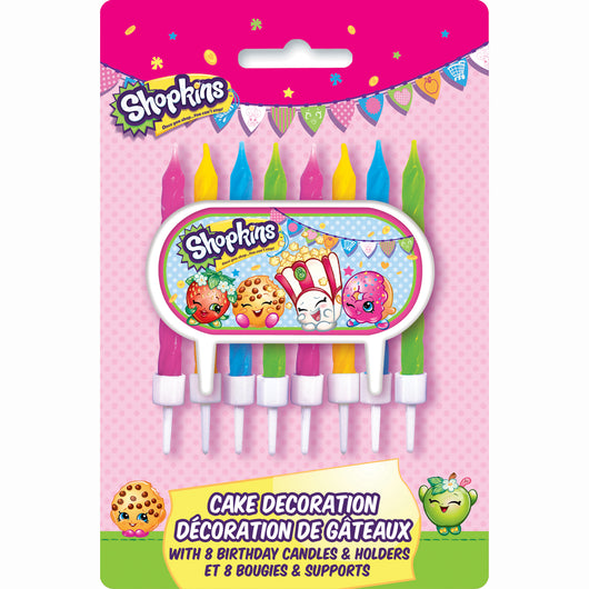 Shopkins Cake Topper with 8 Candles
