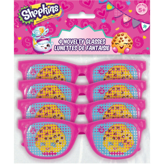 Shopkins Pinhole Novelty Glasses, 4ct