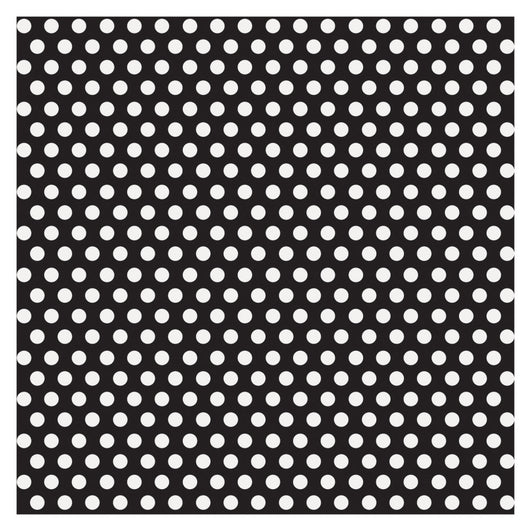 Midnight Black Dots Gift Wrap, 30