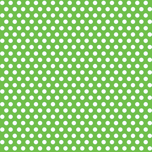Lime Green Dots Gift Wrap, 30