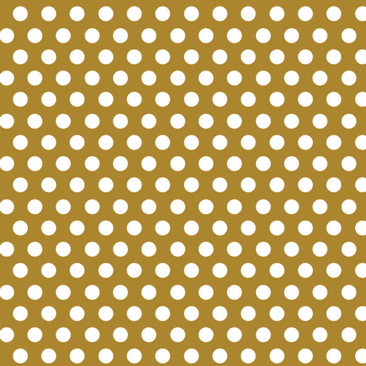 Gold Dots Gift Wrap, 30