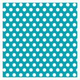 "Caribbean Teal Dots Gift Wrap, 30"" x 5 ft"
