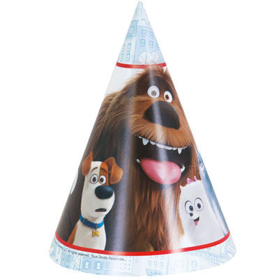 The Secret Life of Pets Party Hats, 8ct.