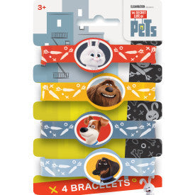 The Secret Life of Pets Stretchy Bracelets, 4ct.