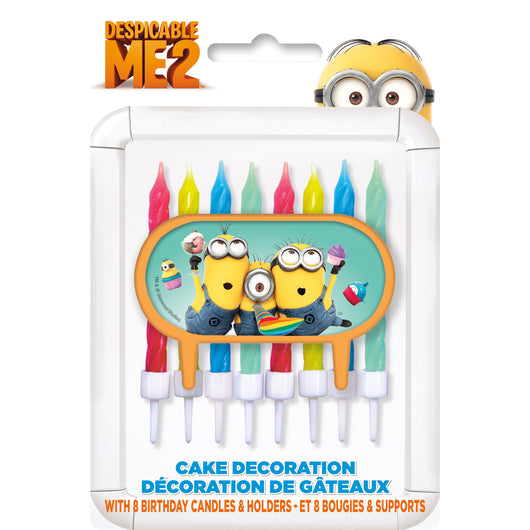 Despicable Me Cake Topper with 8 Candles
