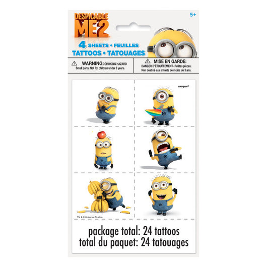 Despicable Me Tattoo Sheets, 4ct.