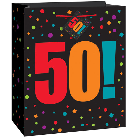 Birthday Cheer Age 50 Large Gift Bag