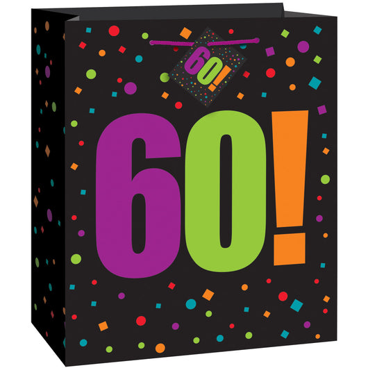 Birthday Cheer Age 60 Large Gift Bag