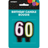 Birthday Cheer Number 60 Birthday Candle