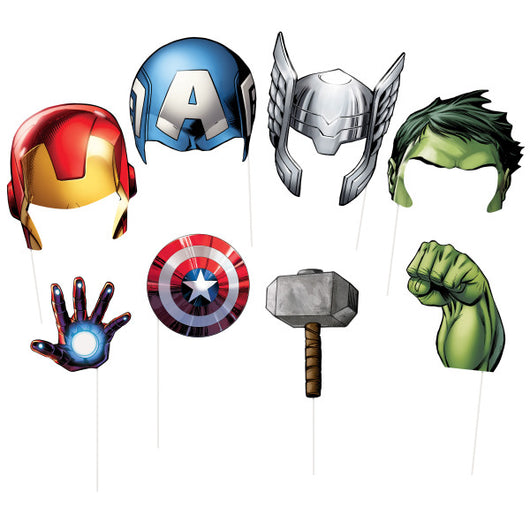 Avengers Assemble Photo Booth Props, 8ct