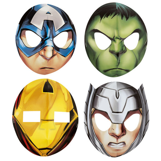 Avengers Assemble Party Masks, 8ct
