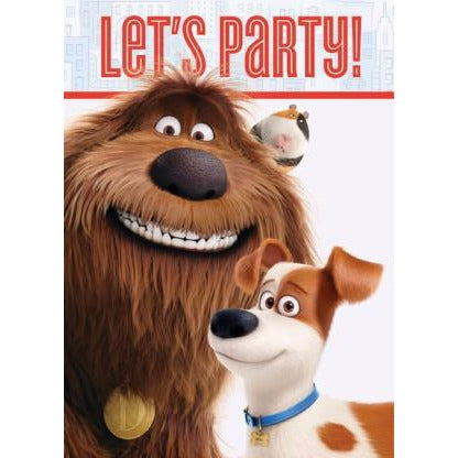 The Secret Life of Pets Invitations, 8ct.