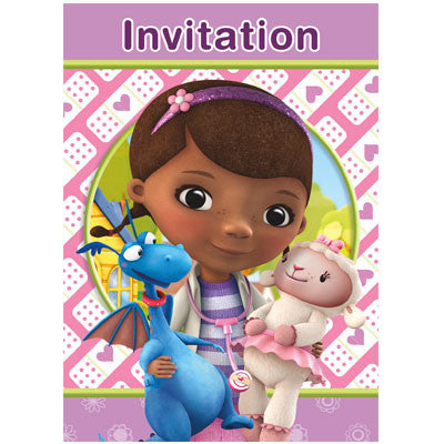 Doc McStuffins Party Invitations, 8ct.