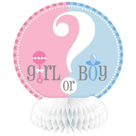 Gender Reveal Mini Honeycomb Decorations, 4ct