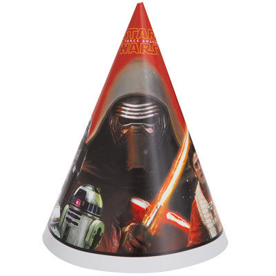 Star Wars Episode VII Party Hats, 8ct