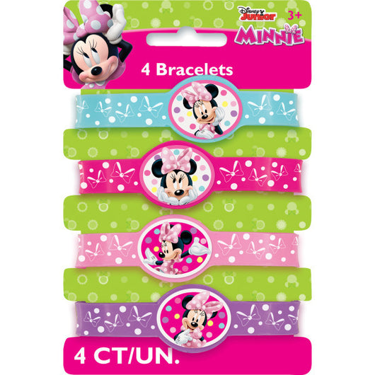 Minnie Bowtique Stretchy Bracelets, 4ct.