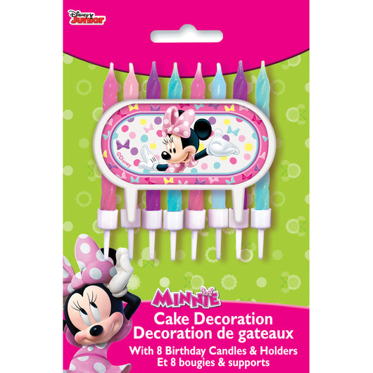 Disney Minnie Bowtique Cake Topper with 8 Candles