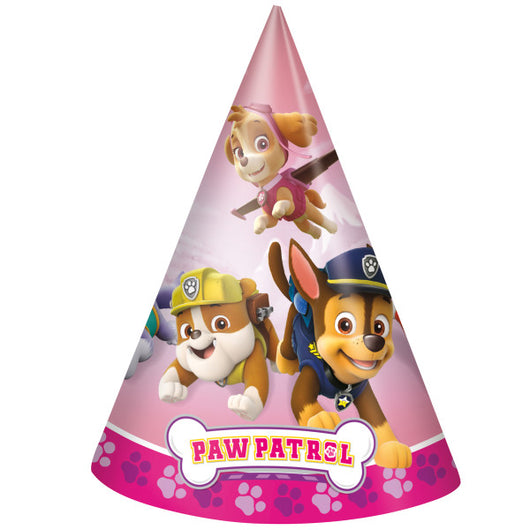 Paw Patrol Girl Party Hats, 8ct