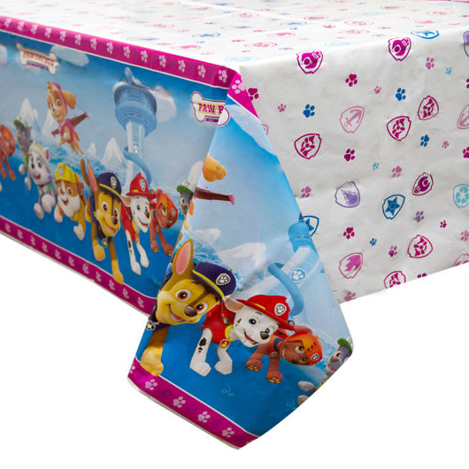 Paw Patrol Girl Rectangular Plastic Table Cover, 54