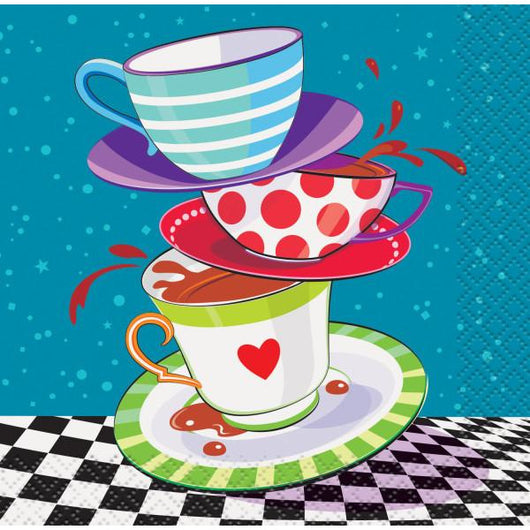 Mad Hatter Tea Party Beverage Napkins, 8ct.