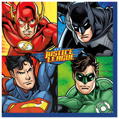 Justice League Lunch Napkins, 16ct.