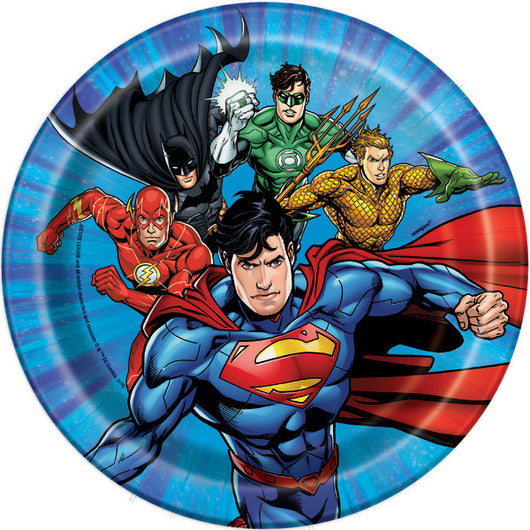 Justice League Dessert Plates, 8ct.