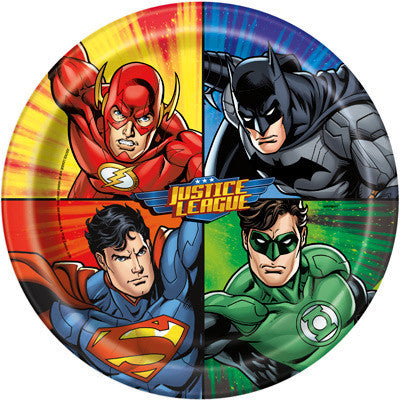 Justice League Lunch Plates, 8ct.