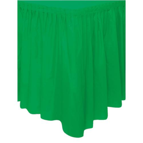 Emerald Green Solid Plastic Table Skirt, 29