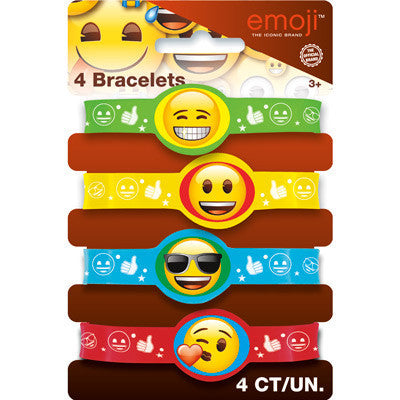Emoji Stretchy Bracelets, 4ct.