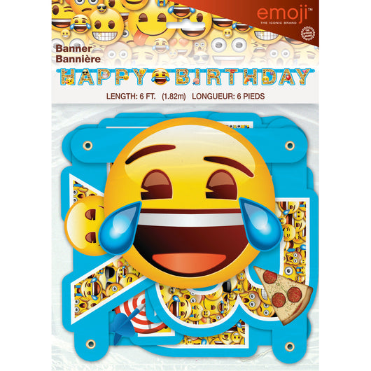 Emoji Birthday Banner, 1ct.