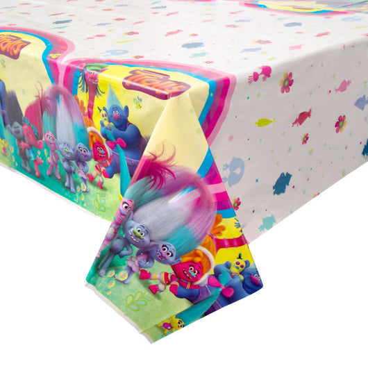 Trolls Printed Plastic Table Cover, 54