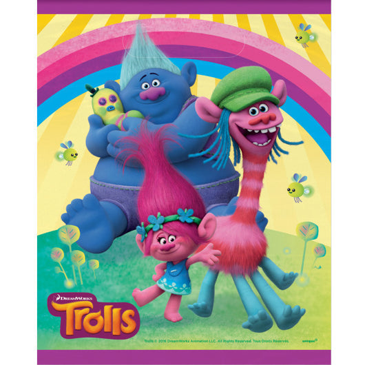 Trolls Party Loot Bags, 8ct.