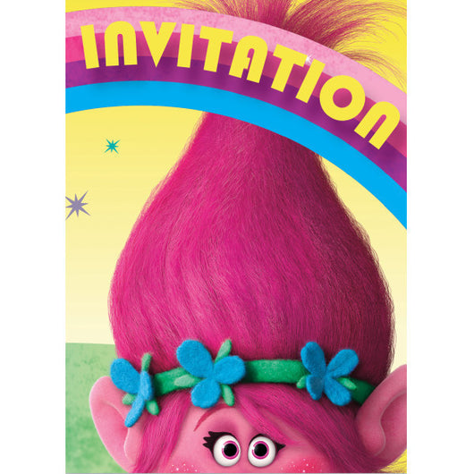 Trolls Party Invitations, 8ct.
